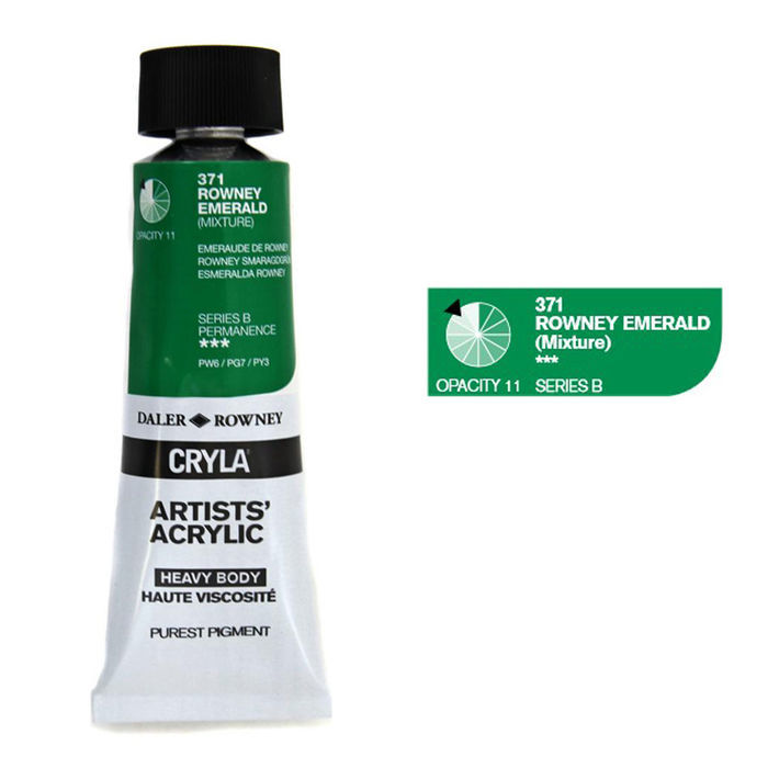 SALE Cryla Acrylfarben, 75ml, Rowney Emerald