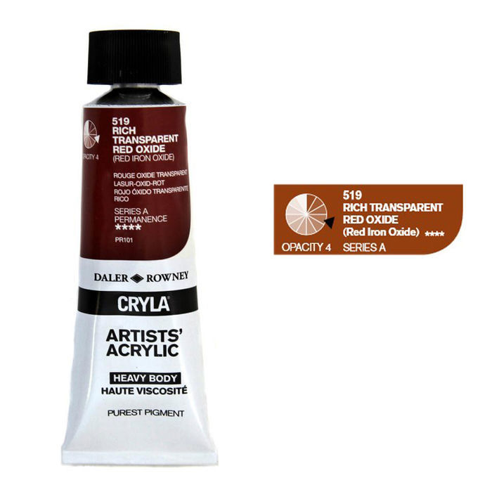 SALE Cryla Farben 75ml Rich Transparent Red Oxid