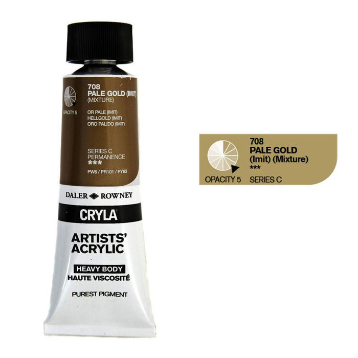 Cryla Acrylfarben, 75ml, Pale Gold