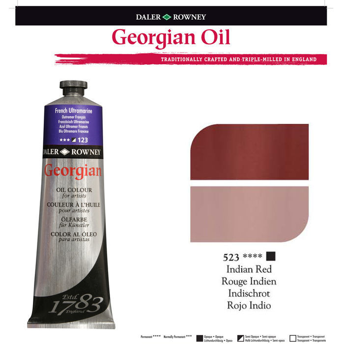 SALE Georgian Ölfarben 38ml, Indian Red