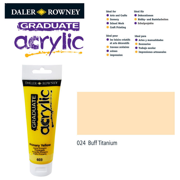 Acrylic Acrylfarbe, 120ml, Buff Titanium