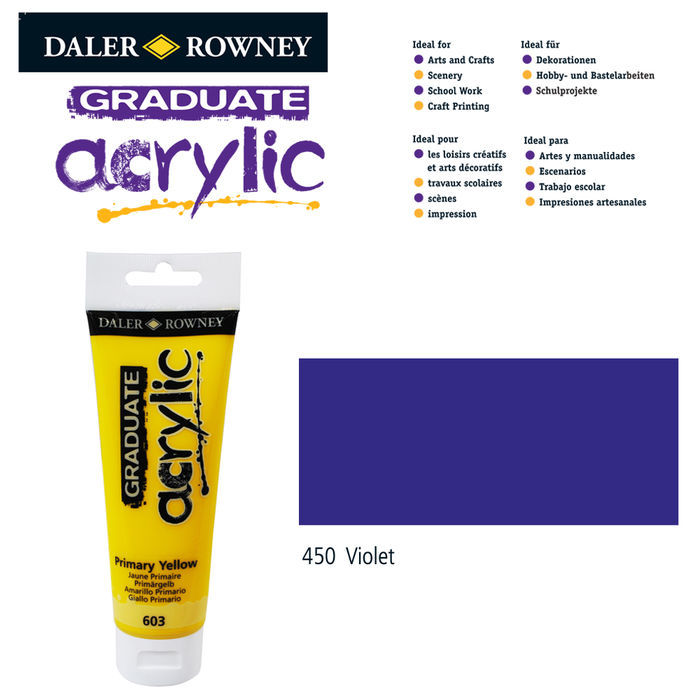 SALE Acrylic Acrylfarbe, 120ml, Violet