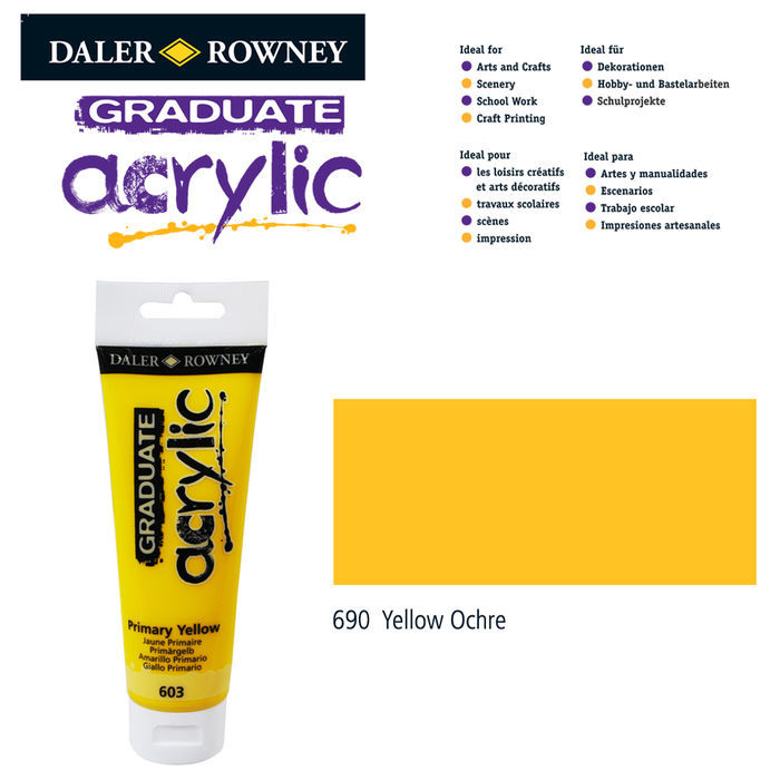 Acrylic Acrylfarbe, 120ml, Yellow Ochre