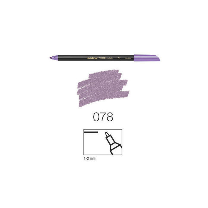 Edding 1200 metallic color,1-2mm Rundspitze,violet