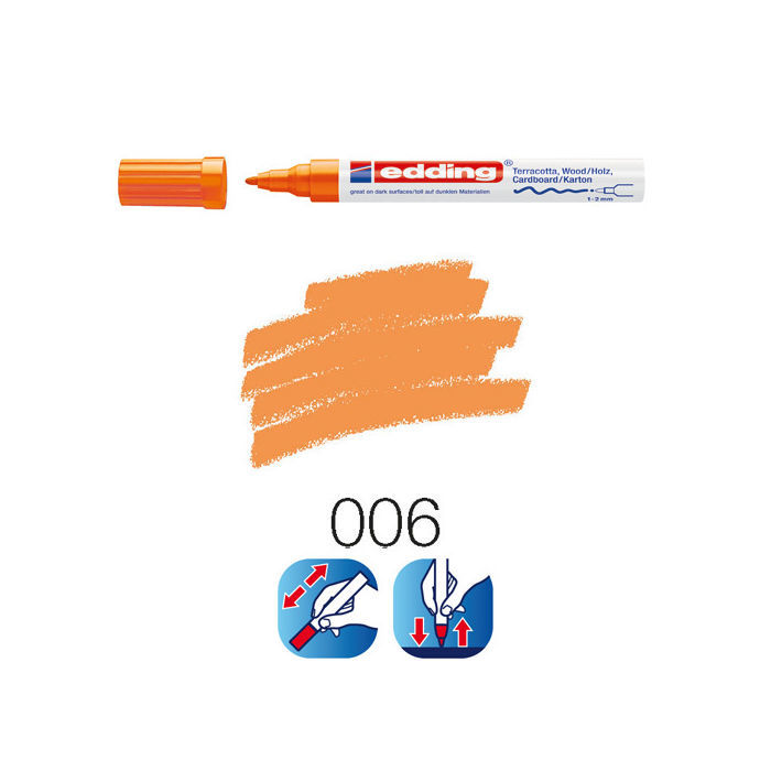 Edding 4040 deco-marker, 1-2mm, Orange