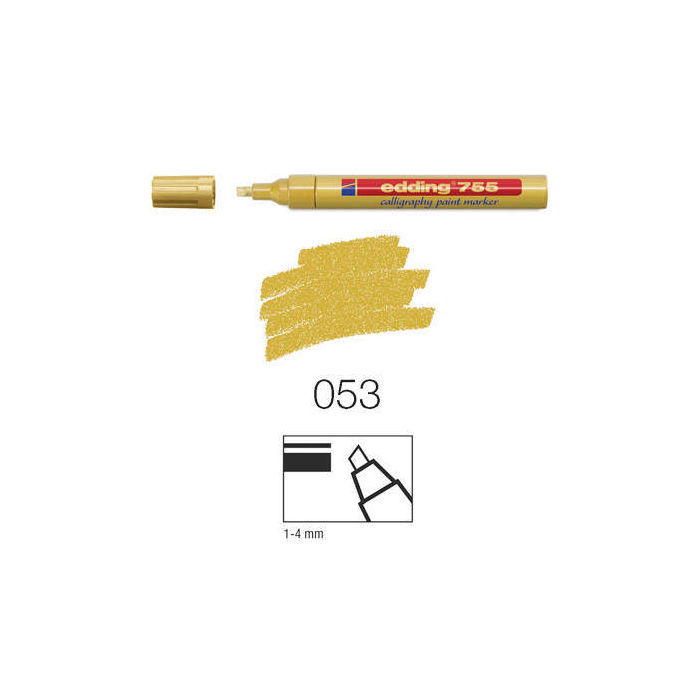 Edding 755 Calligraphy paint-marker, 1-4mm gold