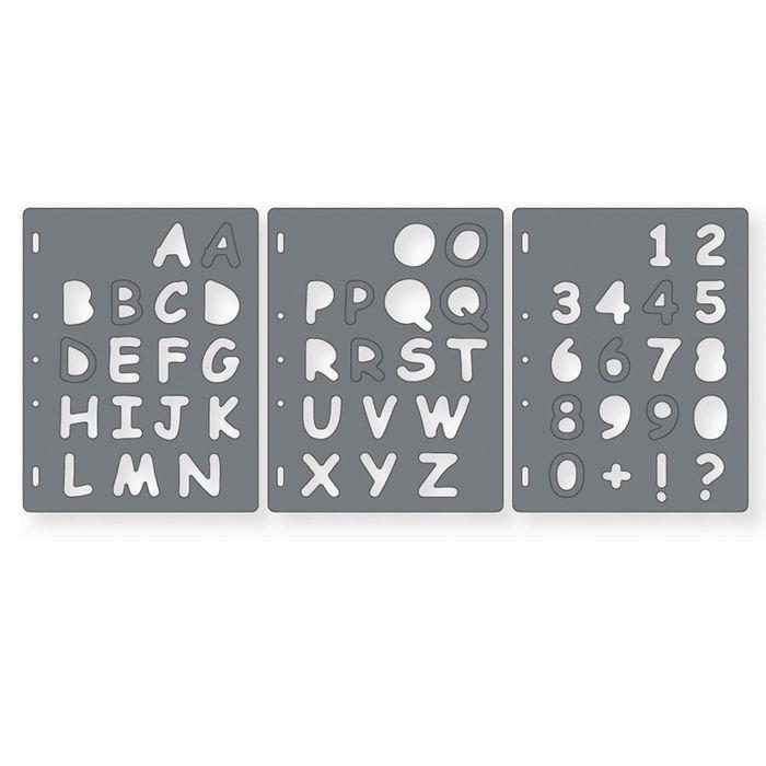 ShapeCutter Schablone, Buchstaben und Zahlen - Fiskars Skalpelle ...