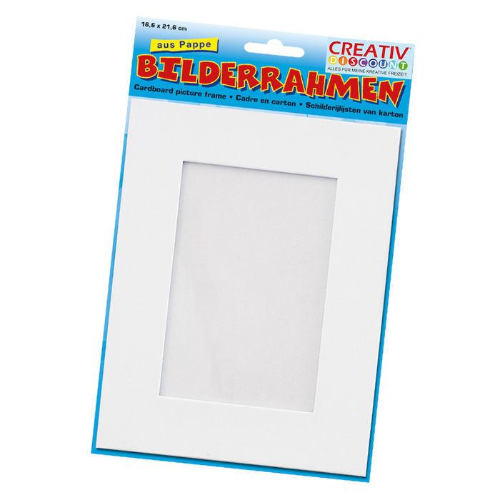 Bilderrahmen aus Pappe, weiß, 166 x 216 mm - Alles aus Pappmaché ...