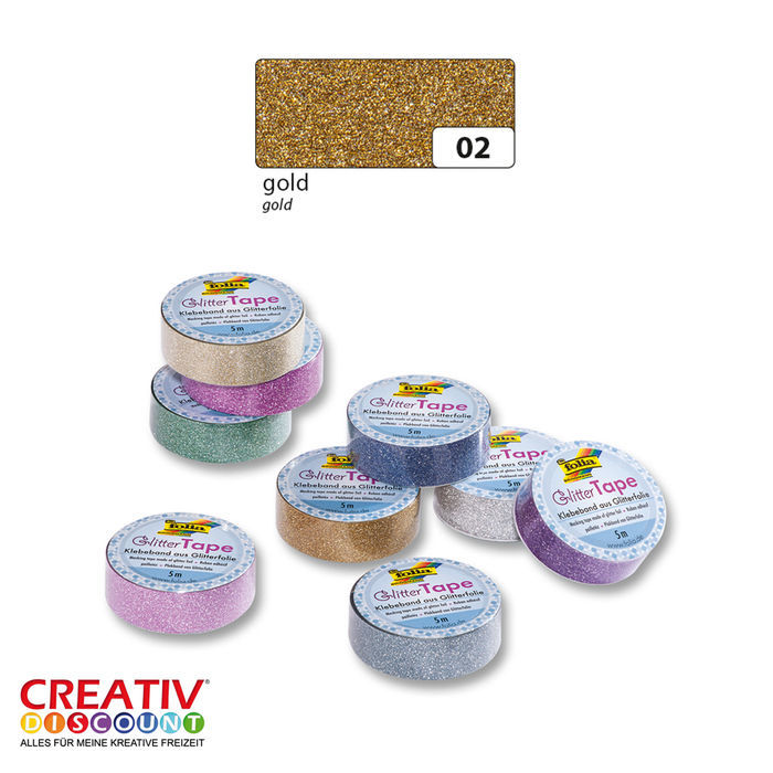 SALE Glitter-Tape, 15mmx5m, gold
