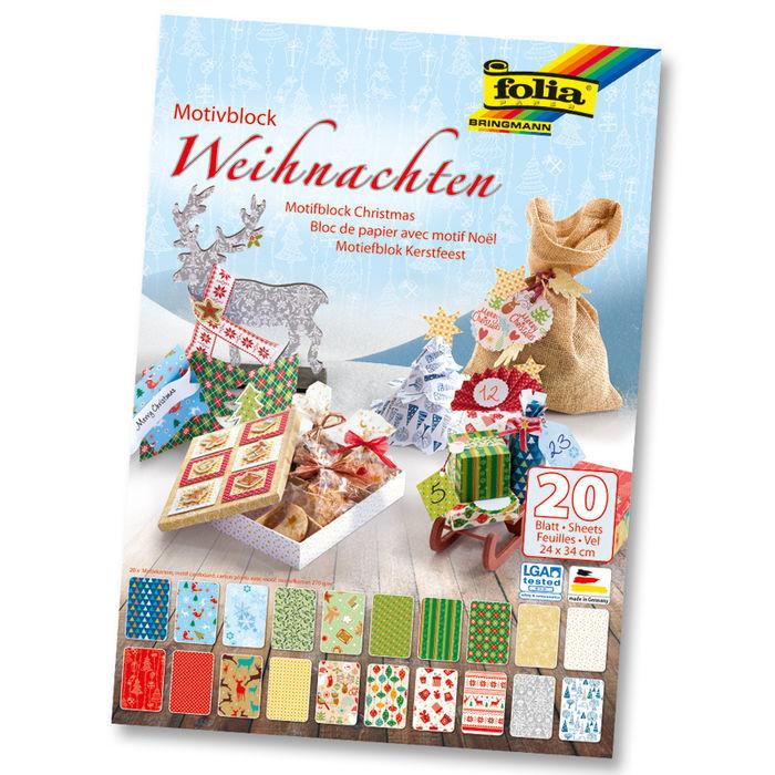 Fingerfarbe Weihnachten.Motivblock Weihnachten 20 Bogen 24 X 34 Cm
