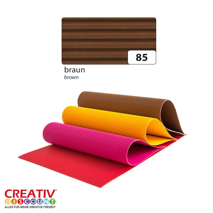 Wellpappe 10er Pack 50x70 cm, Braun PREISHIT