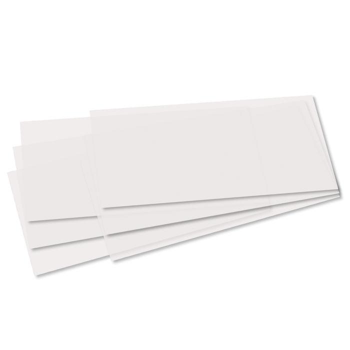 #25xBastel-Laternen-Zuschnitt 25 Bl = PC 20,5 x 51 cm Transparentpapier weiß