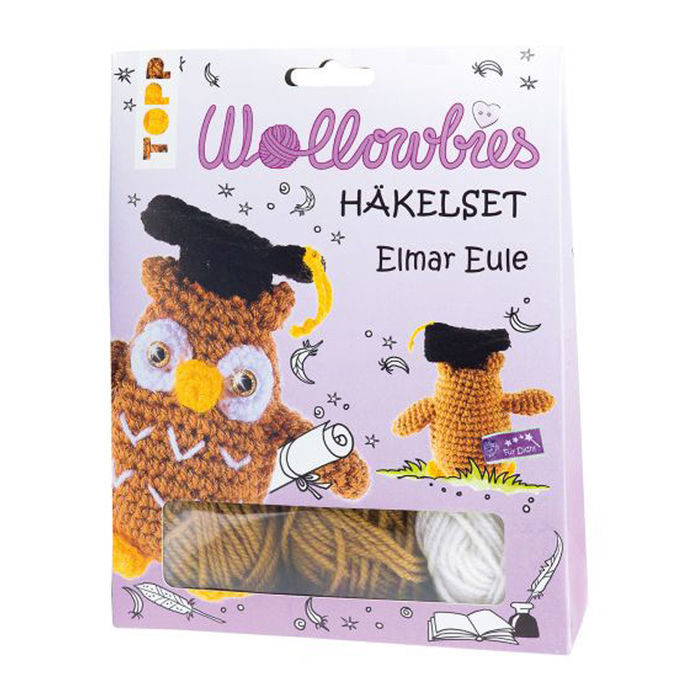 SALE Häkelset Wollowbies Elmar Eule