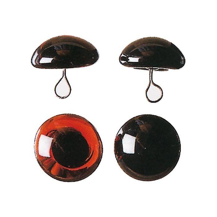 schwarz Ø 6mm,10 Stück Bärenaugen mit Öse