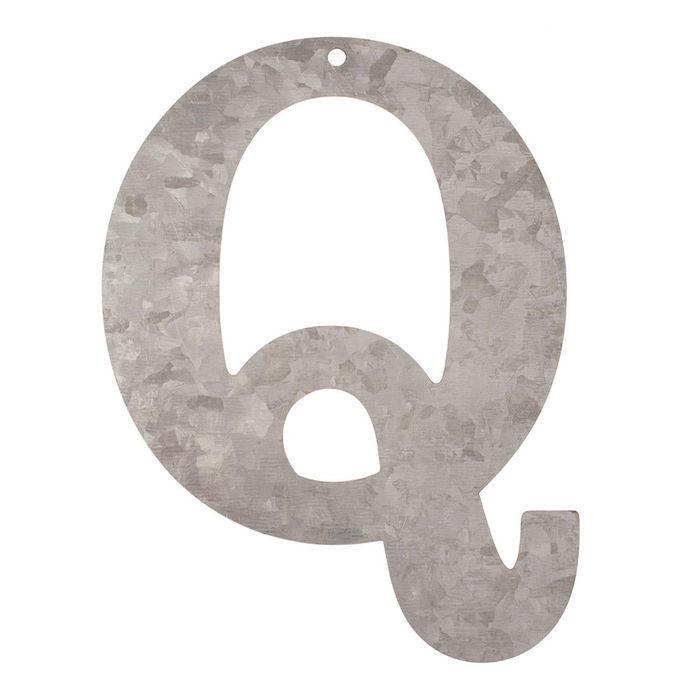 Metall-Buchstabe verzinkt, 12x0,1cm, Q - Artikel aus Holz & MDF ...