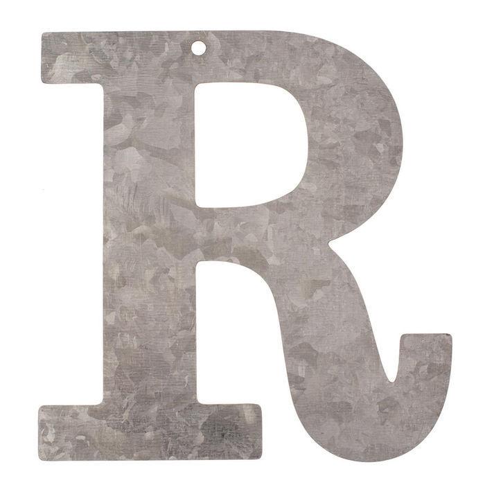 NEU Metall-Buchstabe verzinkt, 12x0,1cm, R | eBay