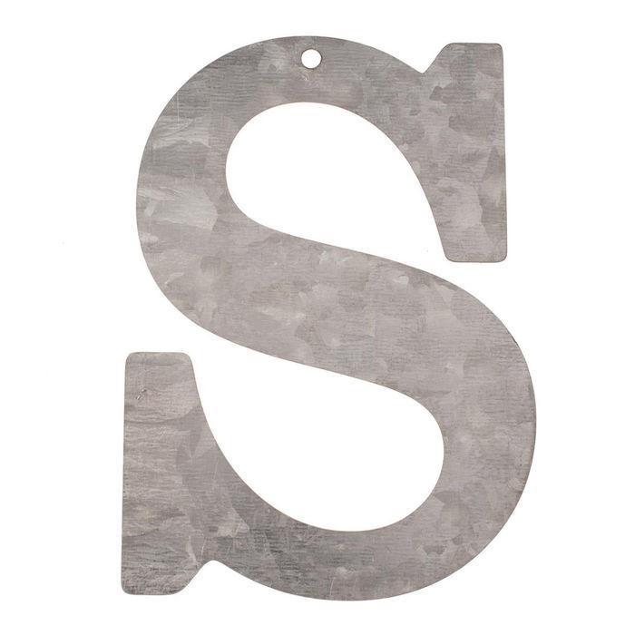 NEU Metall-Buchstabe verzinkt, 12x0,1cm, S | eBay