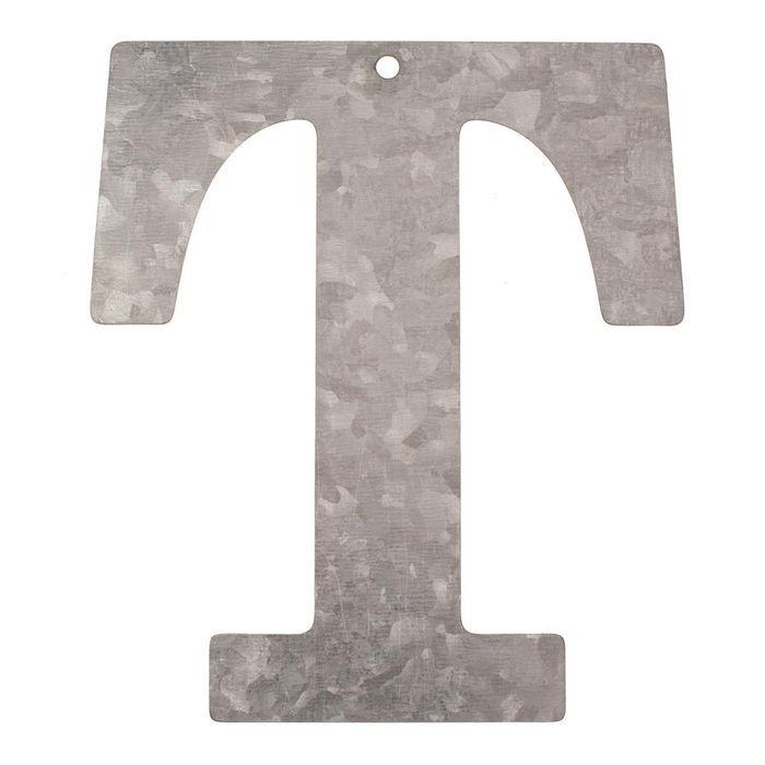 NEU Metall-Buchstabe verzinkt, 12x0,1cm, T | eBay