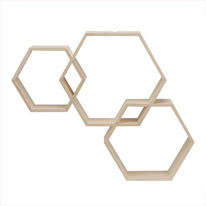 NEU Glorex Design-Rahmen, Sechseck, 3 teilig - Sonstige Holzartikel ...