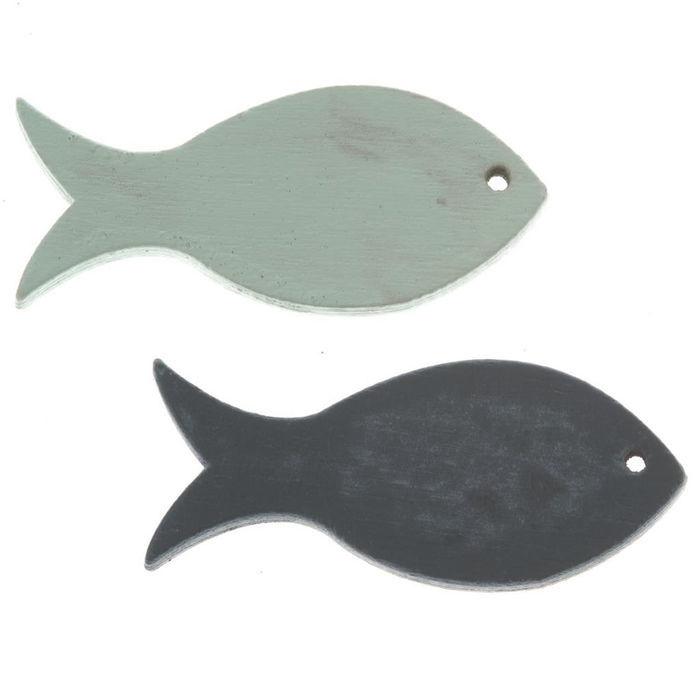 Fische im 3-er Set aus Holz am Band je Fisch ca 13,5cm