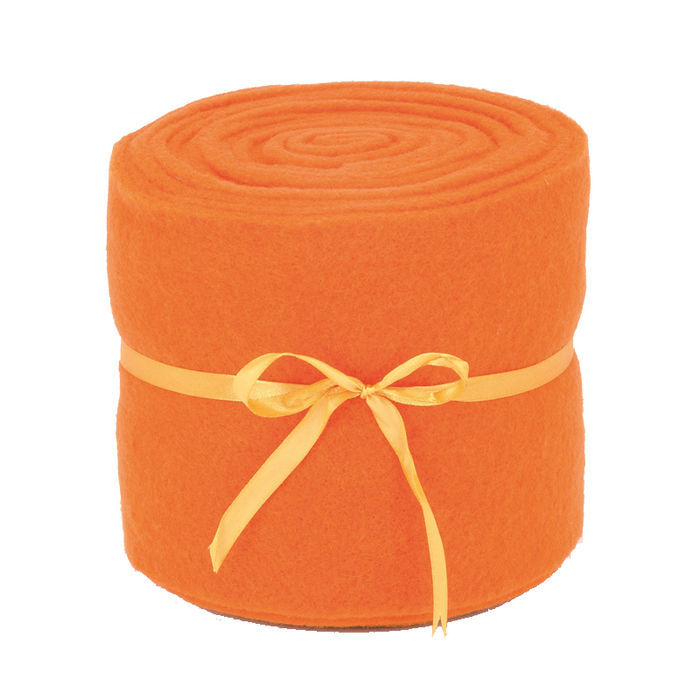 SALE Filzband 2 mm, 5 x 150 cm, orange