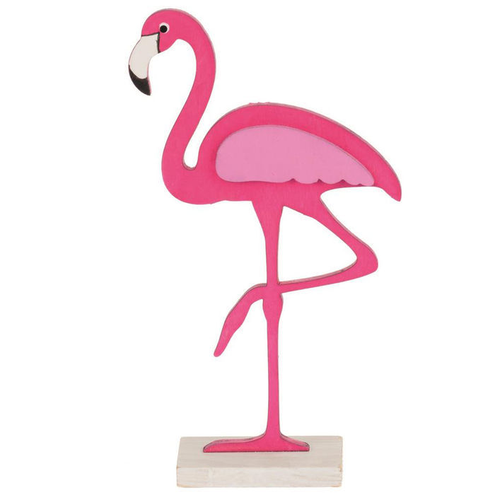 flamingo holz auf sockel 9x4x17cm 1 st ck sonstige holzartikel basteln mit holz produkte. Black Bedroom Furniture Sets. Home Design Ideas