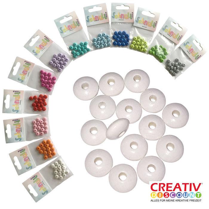Grau CREATIV DISCOUNT/® Schnulli-Sicherheits-Perle 10 Stk