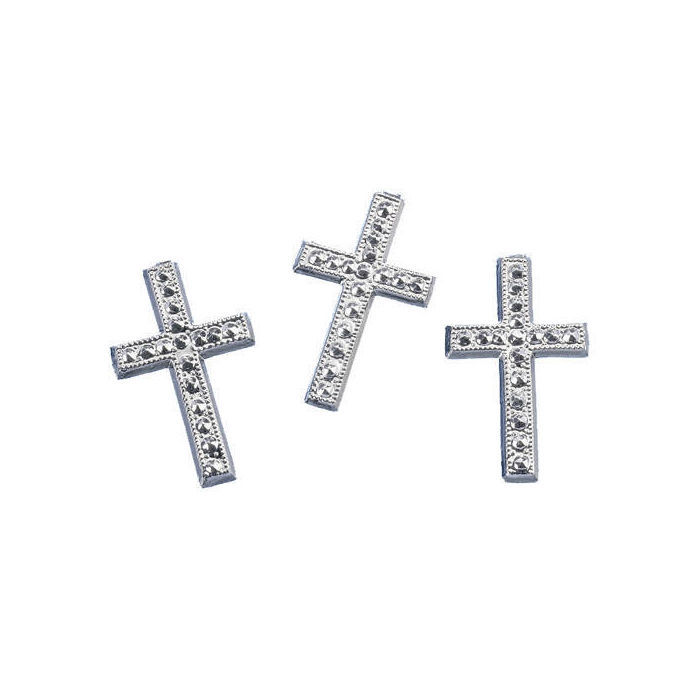 Streuteile: Kreuz, silber, ca. 3cm, 6 Stück - Kommunion ...
