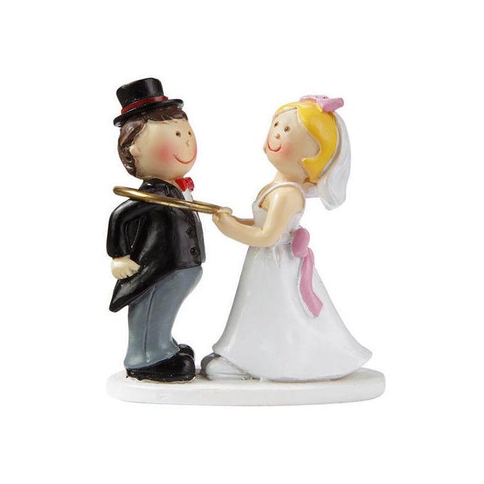 Figur hochzeitspaar mit ring 5 cm bastel for Dekorationsartikel hochzeit