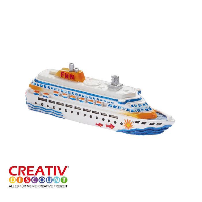Neu Miniatur Kreuzfahrtschiff Länge 7cm Streuteile Dekosand