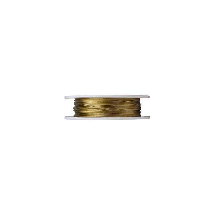 Nyloncoated Draht, Stärke 0,3mm, Länge 5m, gold - Dekoration ...