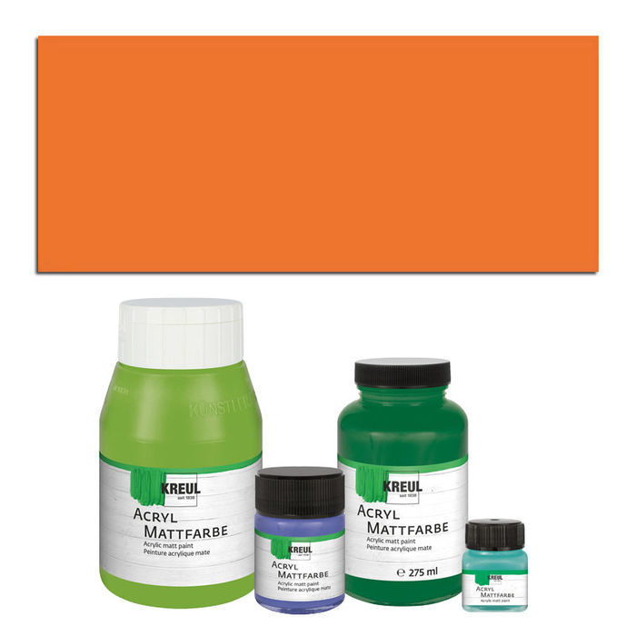 Hobby Line Acryl-Mattfarbe, 50ml, Orange