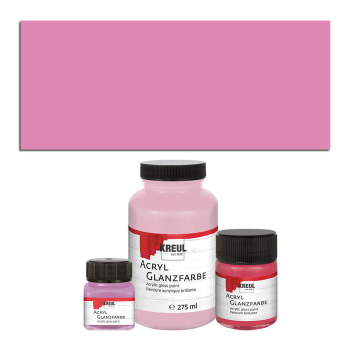 SALE Kreul Acryl Glanzfarbe 275ml Rose