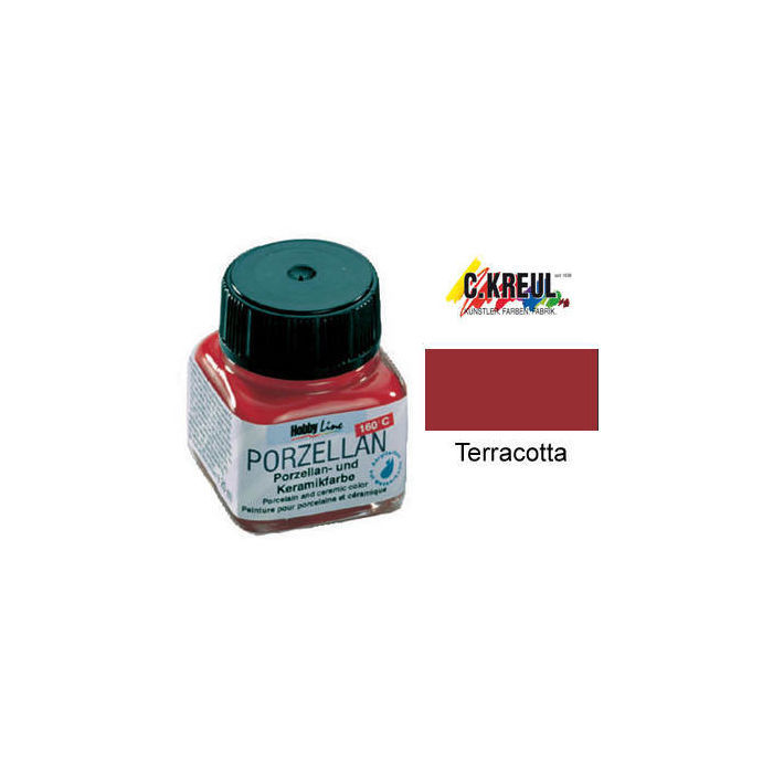 SALE Hobby Line Porzellanmalfarbe 20ml, Terracotta