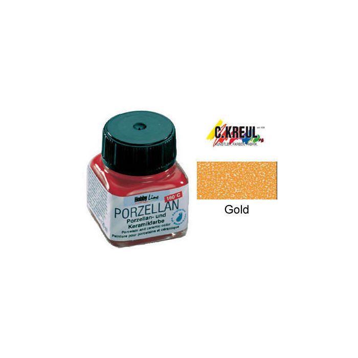 Hobby Line Porzellanmalfarbe, 20ml, Gold