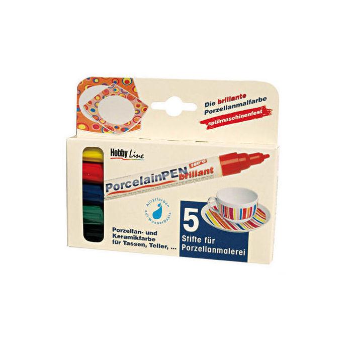 metallic 5er Set Hobby Line Porcelain Pen