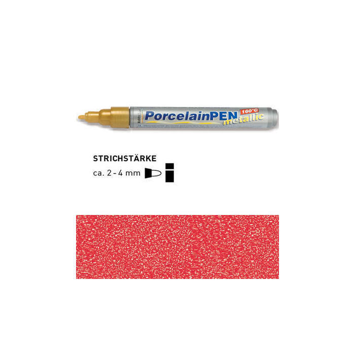 HOBBY LINE Porcelain Pen metallic Rot-metallic