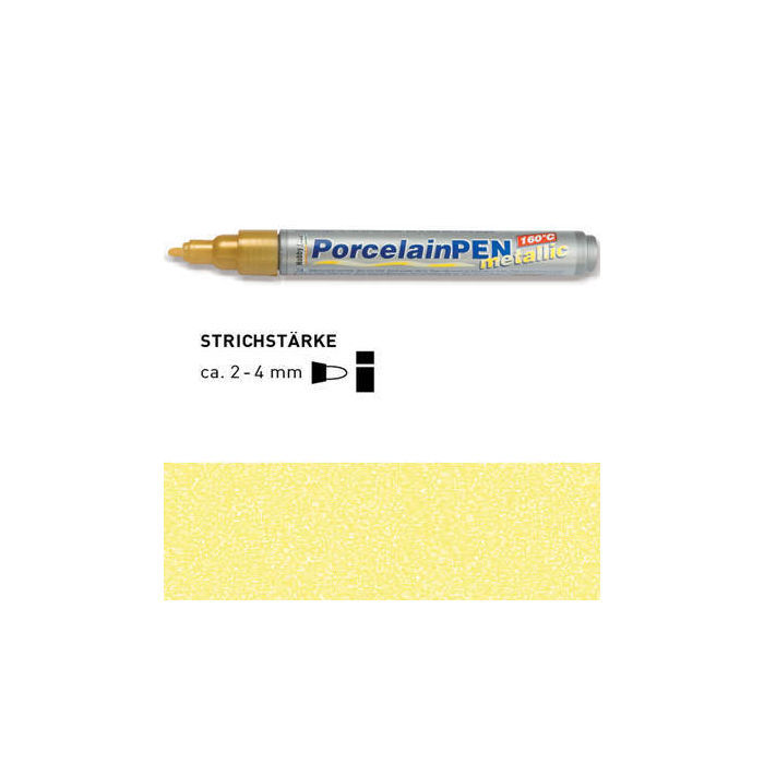 HOBBY LINE Porcelain Pen metallic Gelb-metallic