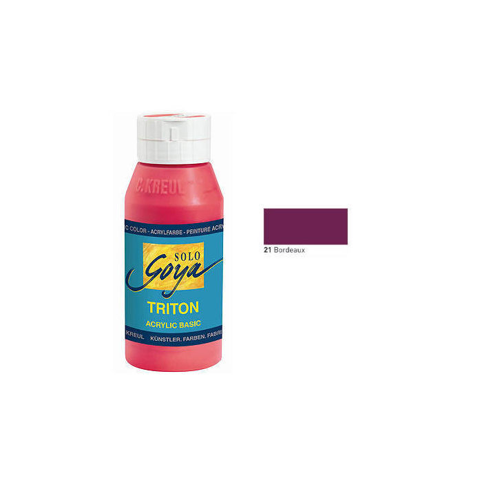 Solo Goya TRITON Acrylfarbe 750ml Bordeaux
