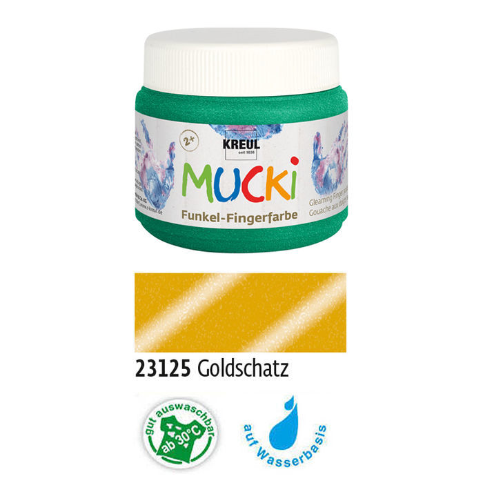 MUCKI Funkel-Fingerfarbe Goldschatz 150 ml