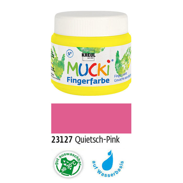 MUCKI Fingerfarbe Quietsch-Pink 150 ml