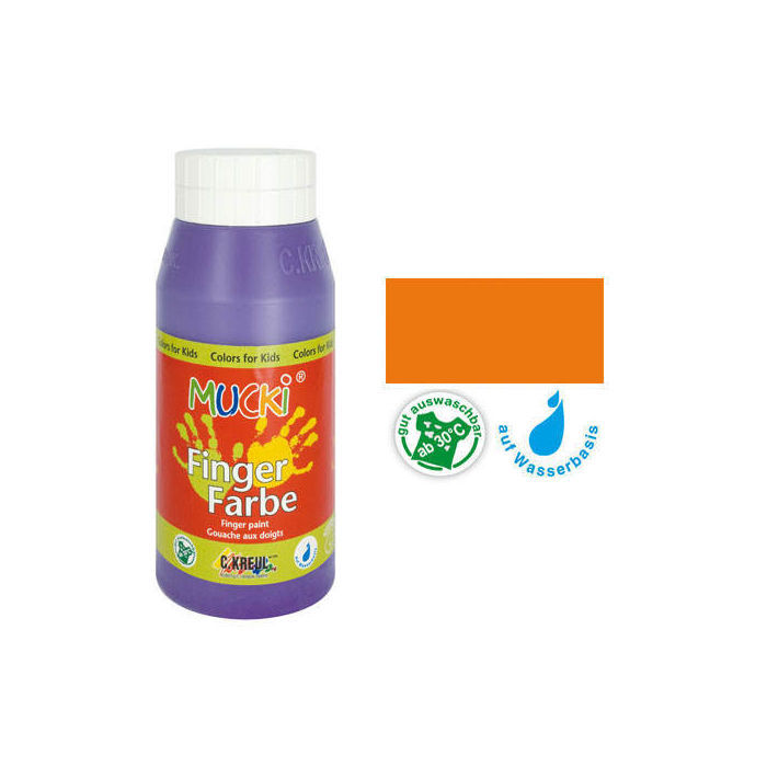 MUCKI Fingerfarbe Orange 750 ml