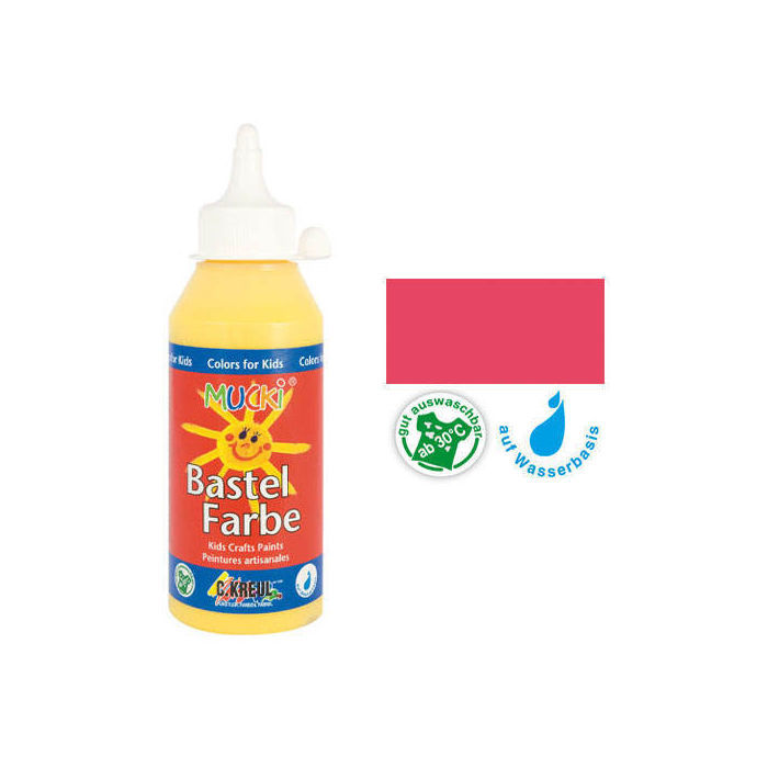 SALE MUCKI Bastelfarbe Karminrot 250 ml