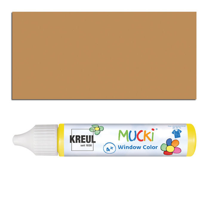Mucki Windowcolor-Pen 29ml Hellbraun