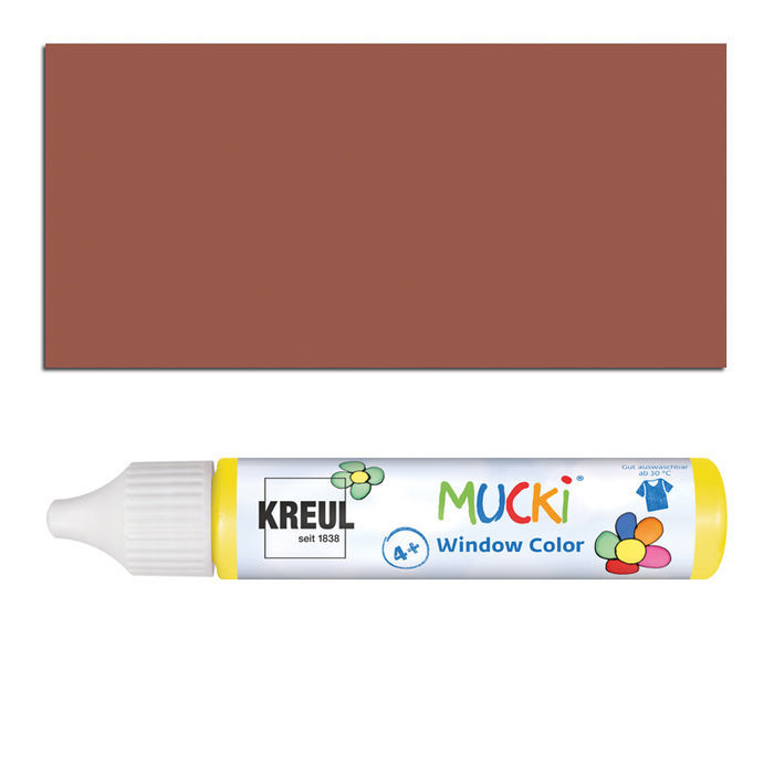 Mucki Windowcolor-Pen 29ml Dunkelbraun