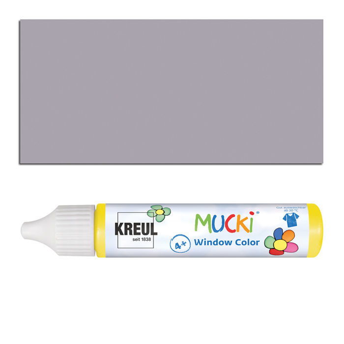 Mucki Windowcolor-Pen 29ml Grau