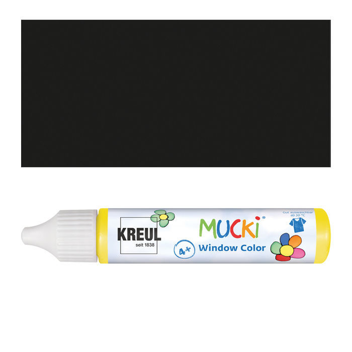 Mucki Windowcolor-Pen 29ml Schwarz