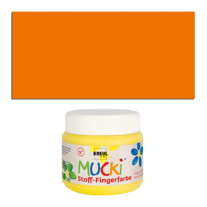 MUCKI Fingerfarbe Textil Orange 150 ml