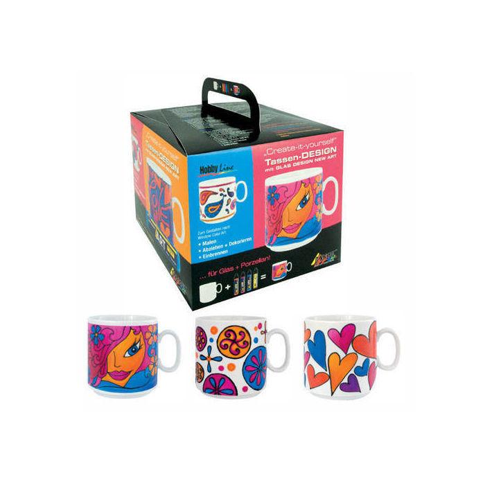 Hobby Line Glas Design New Art : Hobby line new art tassen design farben tasse