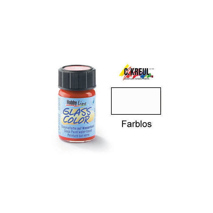 SALE Glass Color Glasmalfarbe, 20ml, Farblos